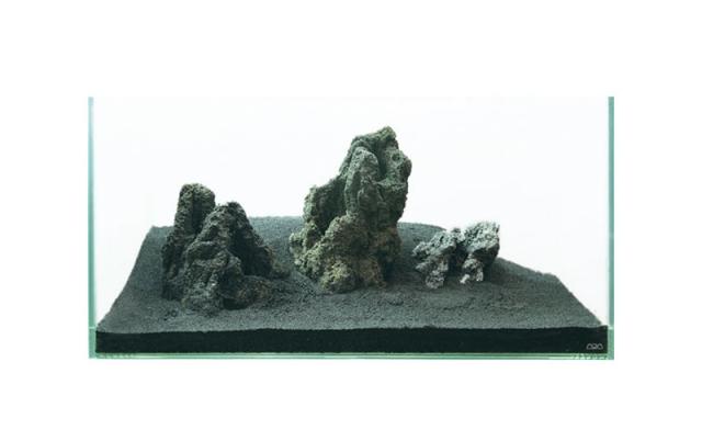 雲山石は置くだけで簡単に素敵なLAYOUT制作が可能です。(制作例)