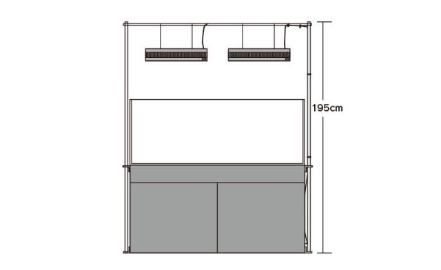 120cm水槽設置例・正面