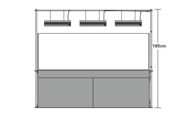 180cm水槽設置例・正面