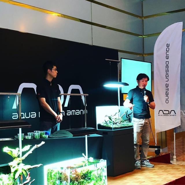 ADA本社 TOP水景クリエーター本間講師の熱弁による『ネイチャーアクアセミナー』
